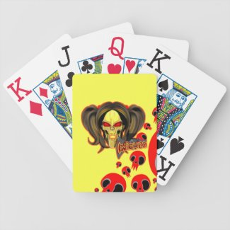 Blox3dnyc.com Wicked lady design. Bicycle Playing Cards