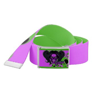 Blox3dnyc.com Wicked lady design.Green/Purple Belt