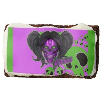 Blox3dnyc.com Wicked lady design.Green/Purple Brownie