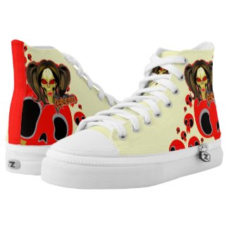 Blox3dnyc.com Wicked lady design. High-Top Sneakers