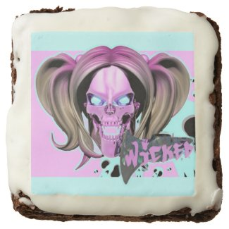 Blox3dnyc.com Wicked lady design.Pink/Light Cyan Brownie