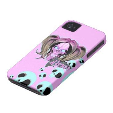 Blox3dnyc.com Wicked lady design.Pink/Light Cyan Case-Mate iPhone 4 Case