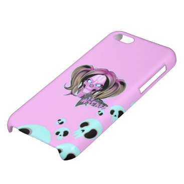Blox3dnyc.com Wicked lady design.Pink/Light Cyan Case For iPhone 5C