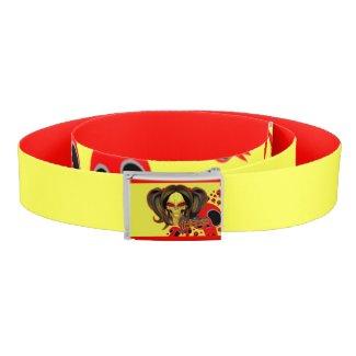 Blox3dnyc.com Wicked lady design.Red/Yellow Belt