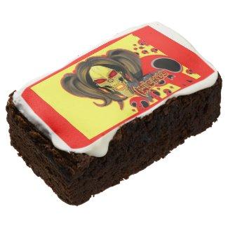 Blox3dnyc.com Wicked lady design.Red/Yellow Brownie