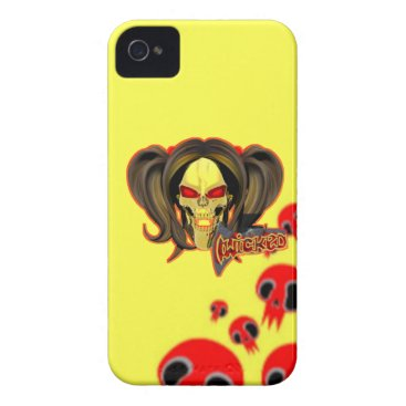Blox3dnyc.com Wicked lady design.Red/Yellow Case-Mate iPhone 4 Case