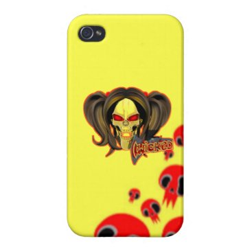 Blox3dnyc.com Wicked lady design.Red/Yellow Case For iPhone 4
