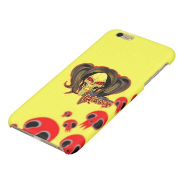 Blox3dnyc.com Wicked lady design.Red/Yellow Glossy iPhone 6 Plus Case