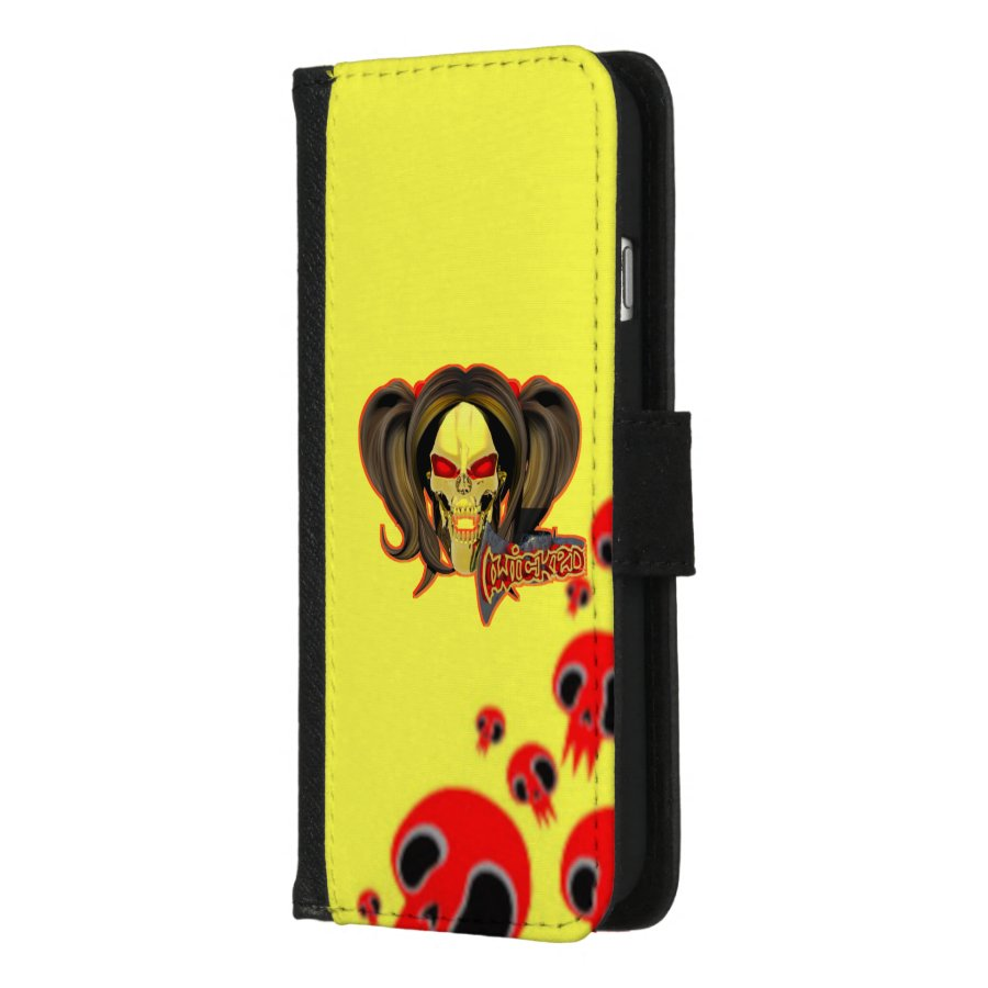 the best attitude 98c7c 4d2bb Blox3dnyc.com Wicked lady design.Red/Yellow iPhone 8/7 Wallet Case ...
