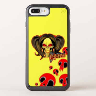 Blox3dnyc.com Wicked lady design.Red/Yellow Speck iPhone Case
