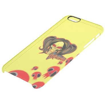 Blox3dnyc.com Wicked lady design.Red/Yellow Clear iPhone 6 Plus Case