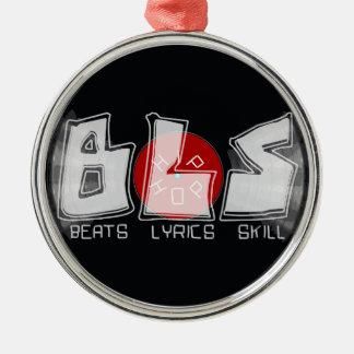 BLS vinyl record - beats lyrics skill = HIP HOP Metal Ornament