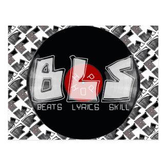 BLS vinyl record - beats lyrics skill = HIP HOP Postcard