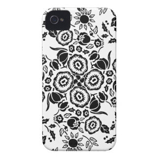 Blsck & White floral damask pattern iPhone 4/4s iPhone 4 Cover