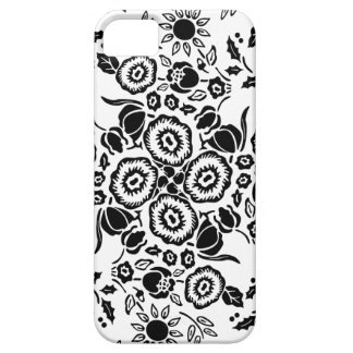 Blsck & White floral damask pattern iPhone 5 case