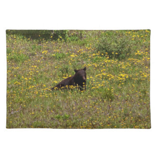 BLST Black Bear Snack Time Cloth Placemat