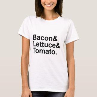 BLT Bacon Lettuce Tomato List String T-Shirt