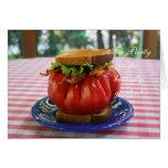 BLT con el tomate gigante Felicitacion