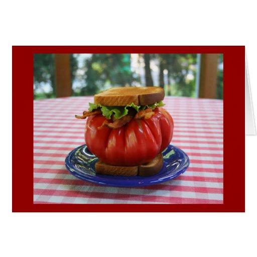 BLT con el tomate gigante Tarjeta De Felicitación