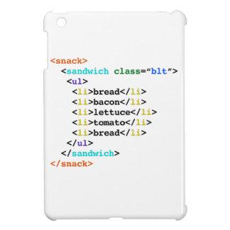 BLT HTML Funny Geek Sandwich iPad Mini Cover