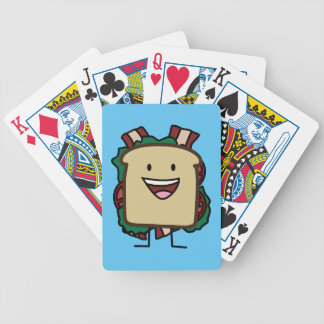 BLT Sandwich Bacon Lettuce and Tomato Foods Design Bicycle Playing Cards