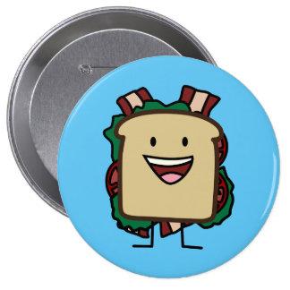 BLT Sandwich Bacon Lettuce and Tomato Foods Design Button