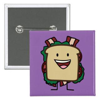 BLT Sandwich Bacon Lettuce and Tomato Foods Design Pinback Button