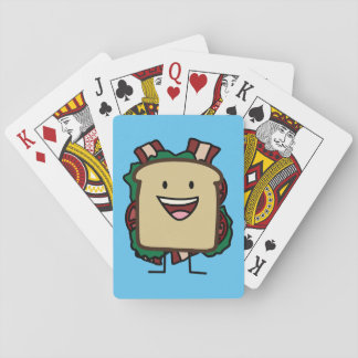 BLT Sandwich Bacon Lettuce and Tomato Foods Design Playing Cards