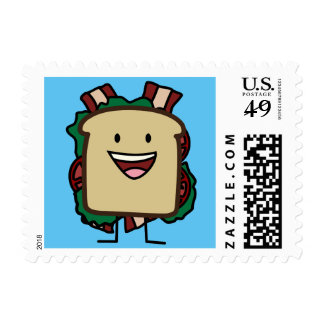 BLT Sandwich Bacon Lettuce and Tomato Foods Design Postage