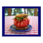 """BLT with Giant Tomato 4.25"""" X 5.5"""" Invitation Card"""