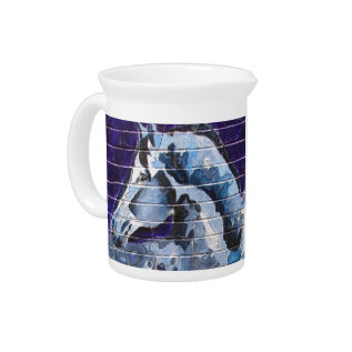 Blu At The Blue Line Beverage Pitcher at Zazzle