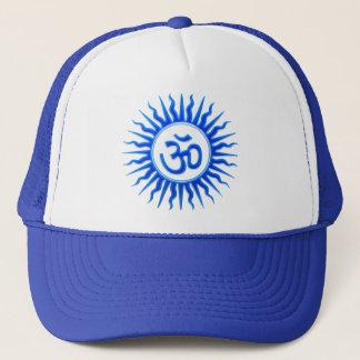 blu embos star om trans trucker hat