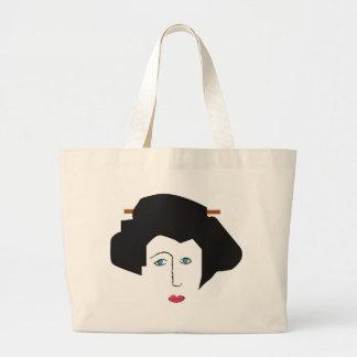 Blu Eyed Geisha Large Tote Bag