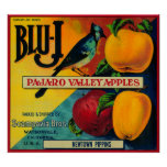 Blu-J Apple Crate LabelWatsonville, CA Poster