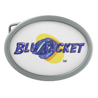 Blu Jacket Logo Oval Belt Buckle
