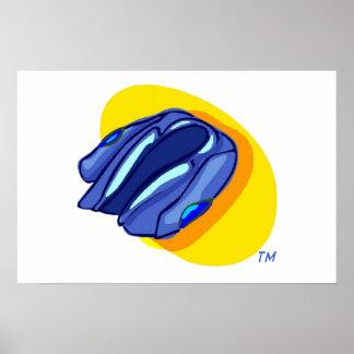 Blu Jacket's Blue Jacket Poster