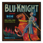 Blu Knight Vintage Crate Label Posters