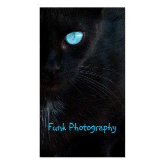 BLUB Blue Eyed Black Cat Business Card
