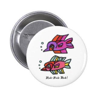 Blub Fish Pair Pinback Buttons