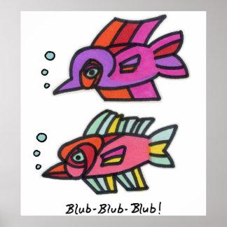 Blub Fish Pair Print