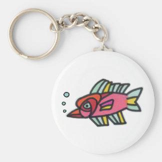 Blub Fish Pinknose Basic Round Button Keychain
