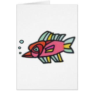 Blub Fish Pinknose Greeting Cards