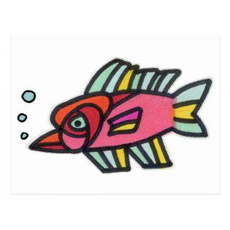 Blub Fish Pinknose Post Card
