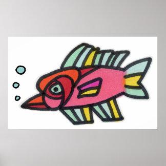 Blub Fish Pinknose Poster