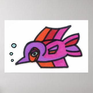 Blub Fish Purplenose Posters