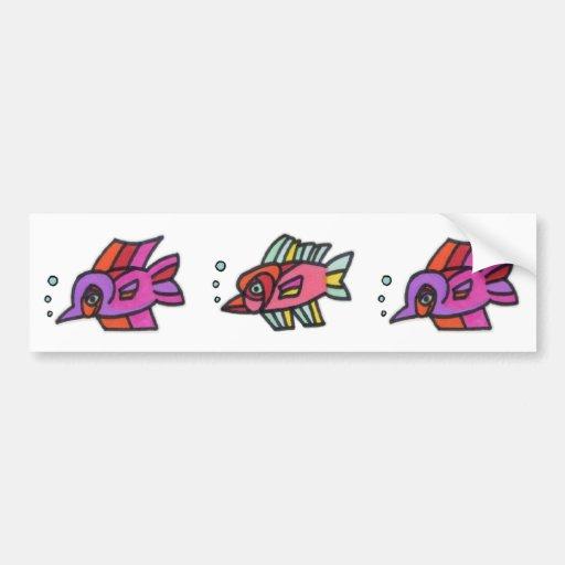 Blub Fish Trio Bumper Stickers