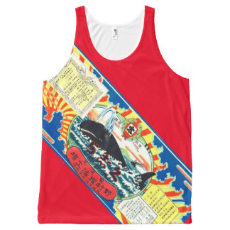Blubber Whale Meat Can Label Japanese Vintage Ad All-Over-Print Tank Top