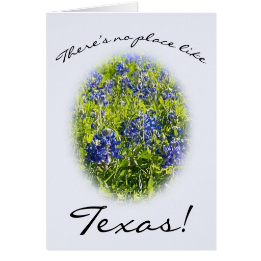 """Blubonnet """"There's No Place Like Texas"""" Card"""