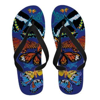 'BluButterfly' Flip-Flops