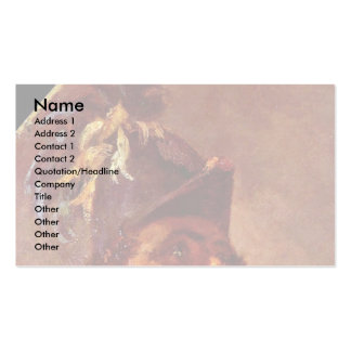Blucher And Wellington At La Belle Alliance Detail Double-Sided Standard Business Cards (Pack Of 100)